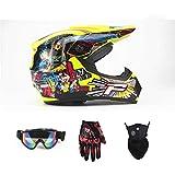NJYBF Casco da Motocross Bambini Quad Bike ATV Go-kart Caschi Jet Caschi...