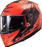 Casco moto LS2 FF390 BREAKER SWAT FLUO Orange Nero, Nero/Oroange, S