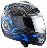Protectwear H510-11BL-L Casco Integrale da Moto, Multicolore...