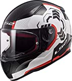Casco moto LS2 FF353 RAPID GHOST Bianco Nero Rosso, Bianco/Nero/Rosso, XL