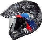 Arai Tour-X4 Cover Casco Motocross Grigio/Blu