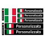 Haberdashery Online Kit 9 Adesivi Personalizzati con Bandiere, per...