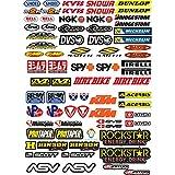 ADESIVI MOTO SPONSOR 73 Pz Sticker Motocross Grafiche Bici Mtb Computer...