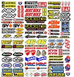 MAS DI VITALE MARIA ditta individuale Adesivi Moto Sponsor 113 Pz Sticker...