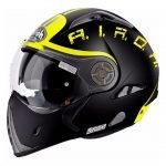 airoh j106 casco nero giallo smoke