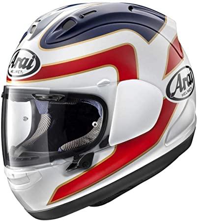casco integrale arai rx-7 v spencer bianco rosso blu