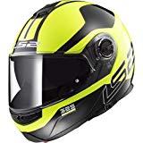 casco ls2 ff325 strobe per moto giallo e nero