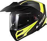 casco modulare ls2 ff324 metro evo rapid nero e giallo