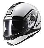 ls2 ff325 strobe casco per moto bianco e nero