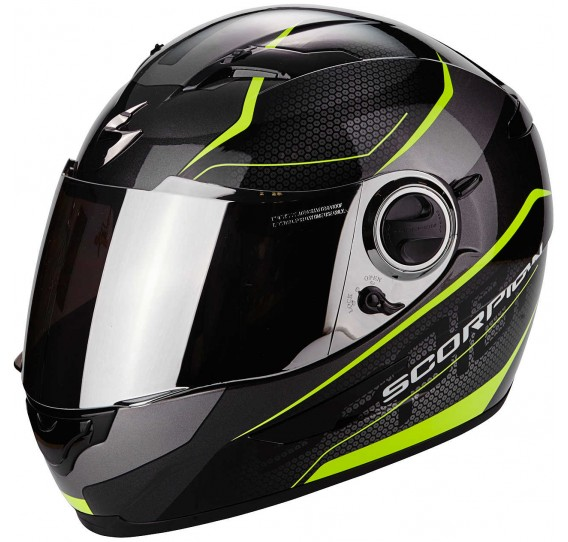 casco integrale scorpion exo 490 nero neon giallo