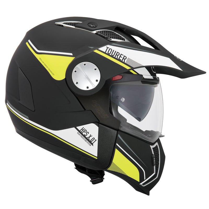 casco givi x01 tourer giallo nero bianco