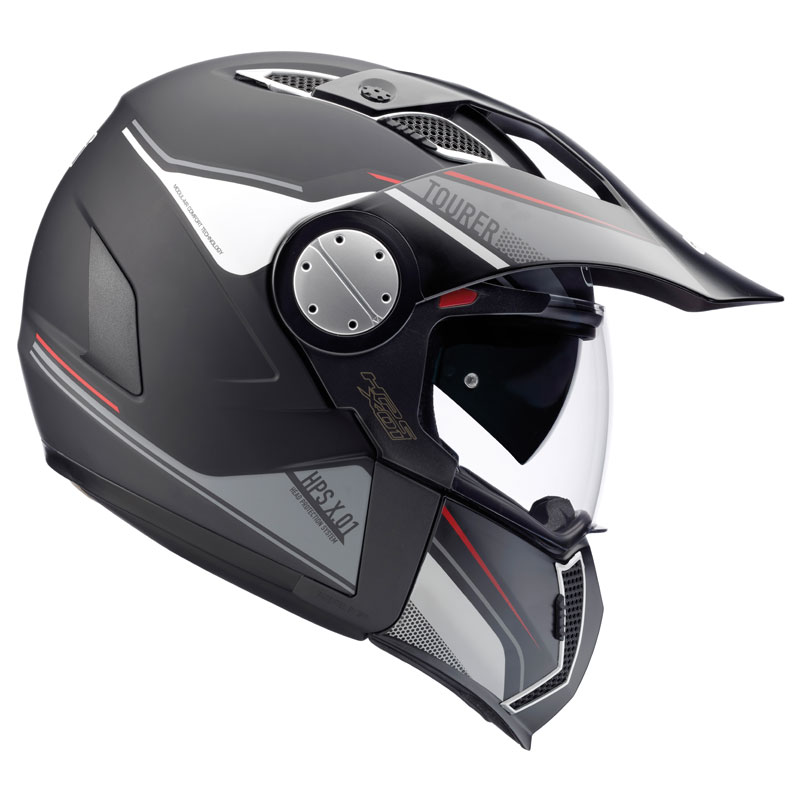 casco givi x01 tourer nero bianco rosso