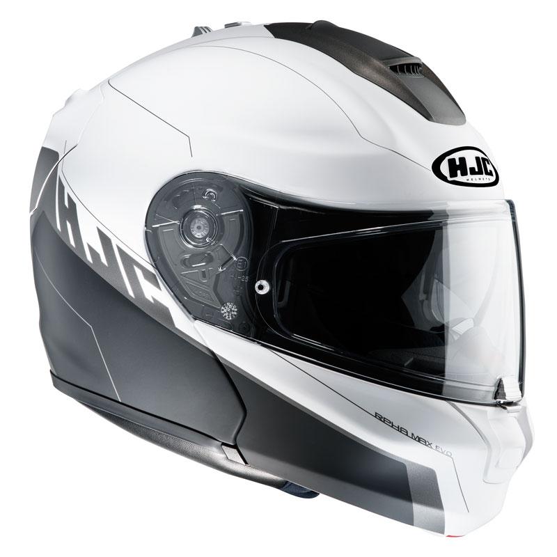 casco hjc rpha max evo bianco e nero