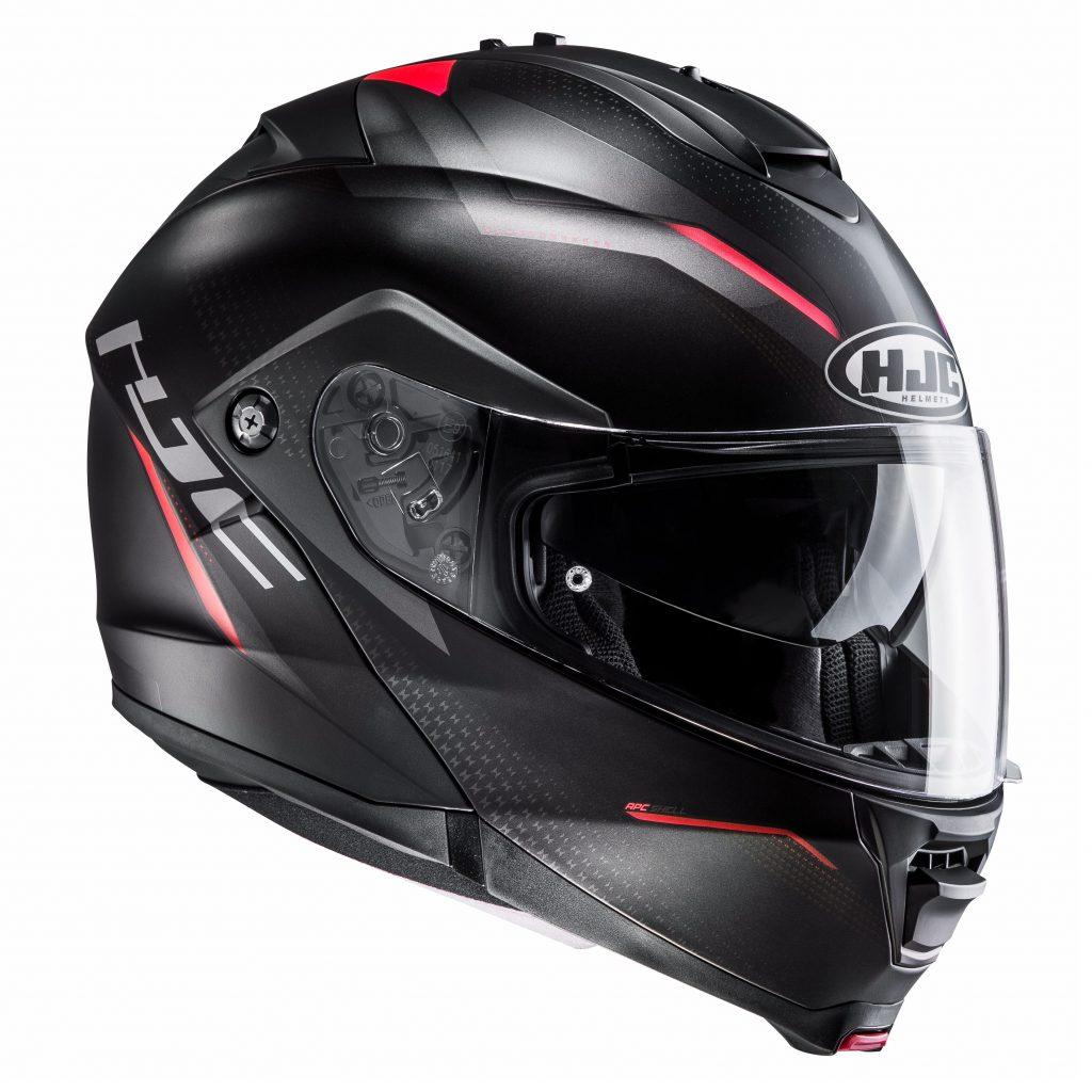 hjc is max II nero e rosso