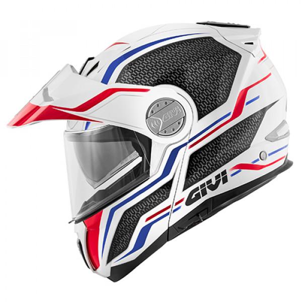 casco givi x 33 bianco rosso blu
