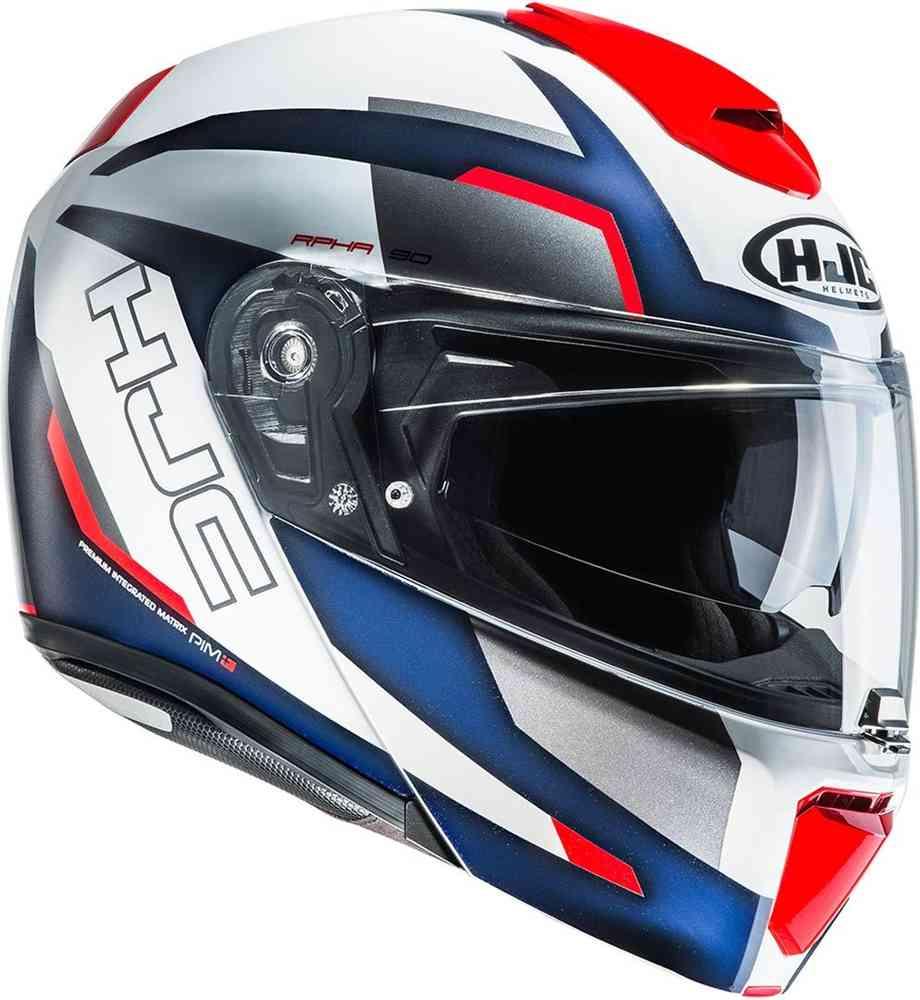 casco hjc rpha 90 rabrigo rosso blu bianco