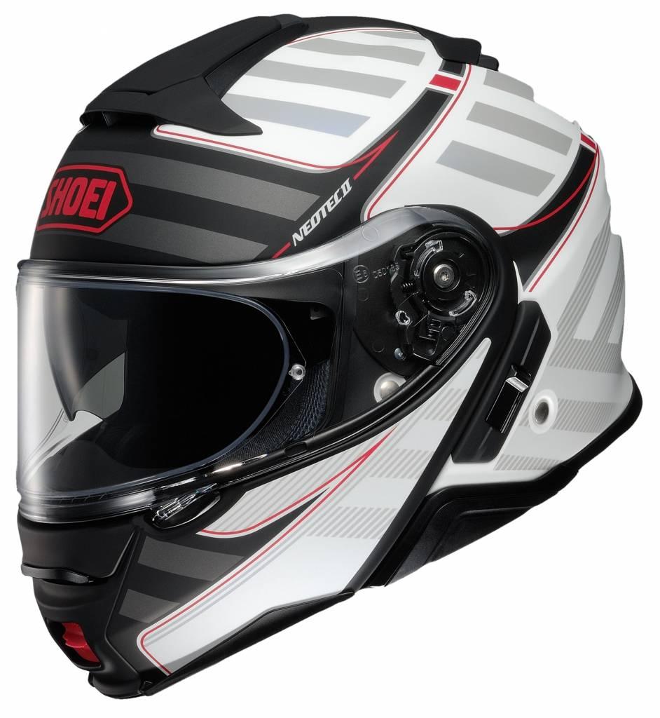 casco shoei neotec 2 splicer tc-6 bianco nero rosso