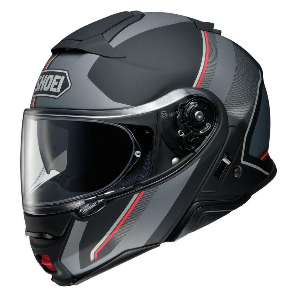 casco shoei neotec II excursion tc5 nero rosso grigio