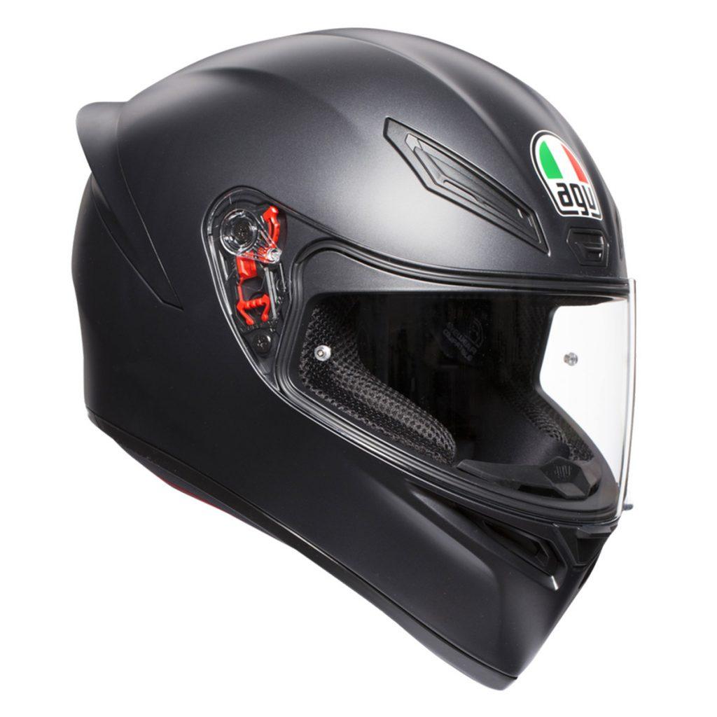 agv k1 mono casco integrale nero opaco
