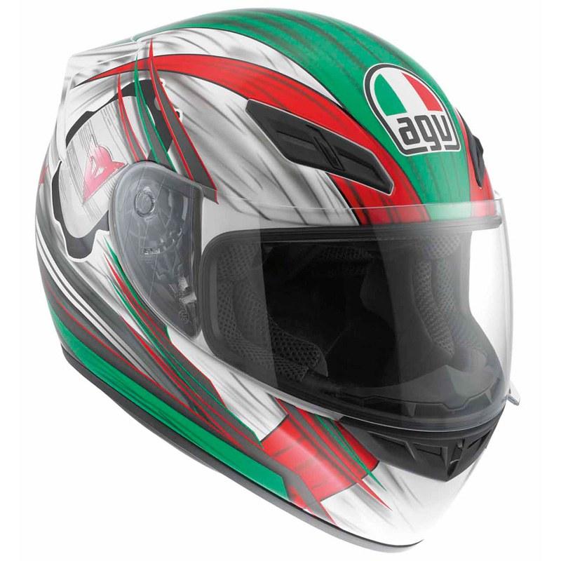 agv k4 bandiera italiana rosso verde bianco versione evo