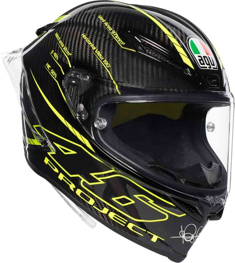 agv pista gp r project 46 carbon nero giallo fluo