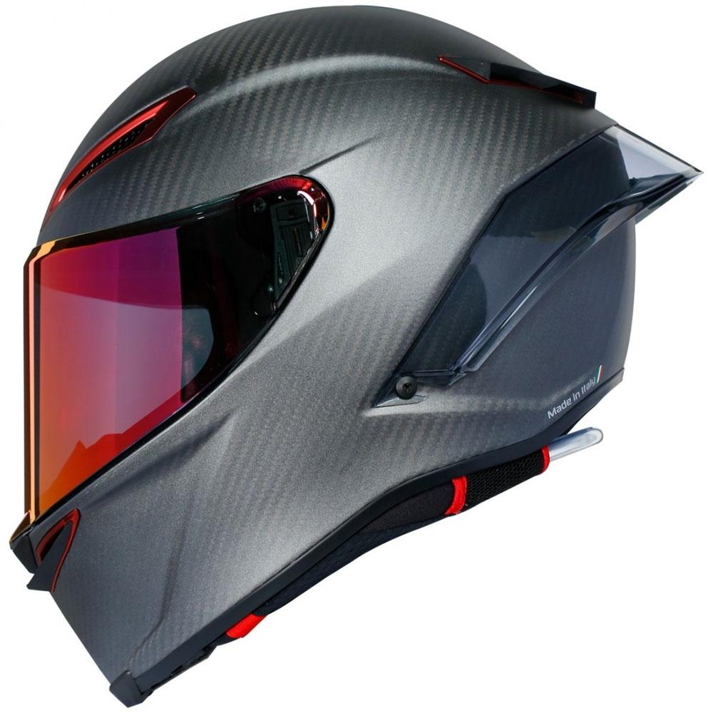 agv pista gp rr limited edition speciale grigio con visiera rossa