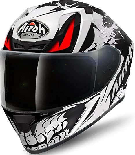 airoh valor bianco nero rosso per moto