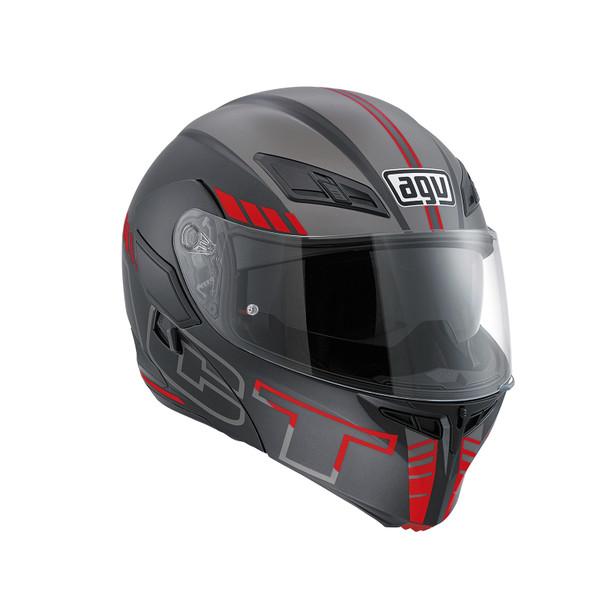 casco agv compact st e2205 multi grigio rosso