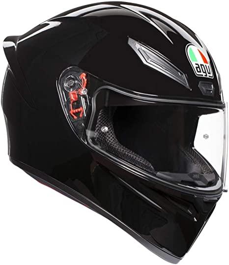 casco agv k1 solid nero lucido