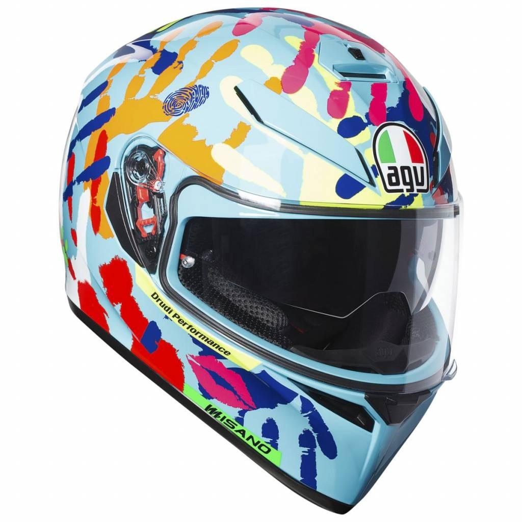 casco agv k3 sv misano colorato