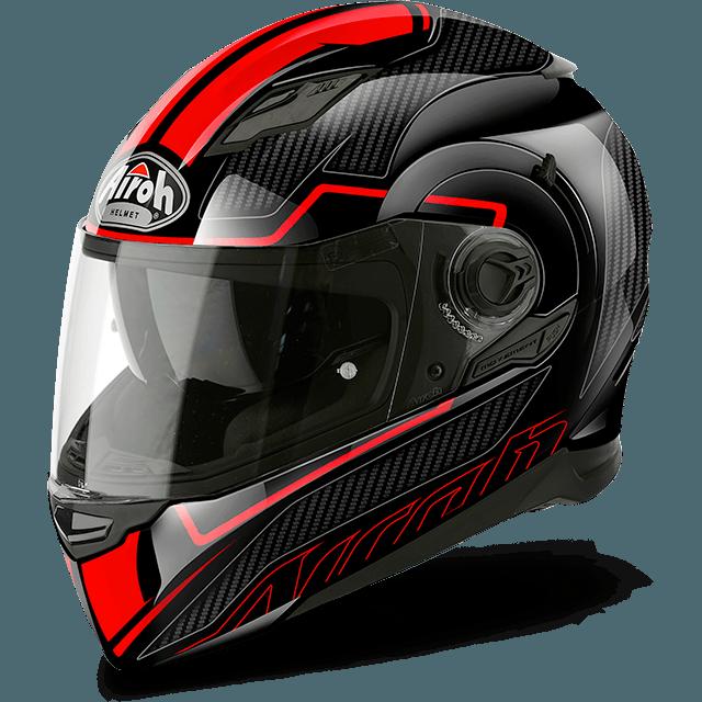 casco airoh movement s pinlock faster rosso nero lucido