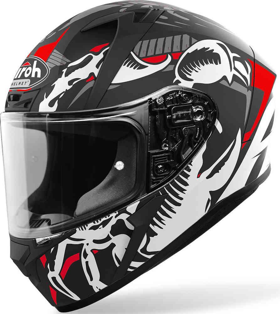 casco airoh valor claw nero rosso grigio bianco