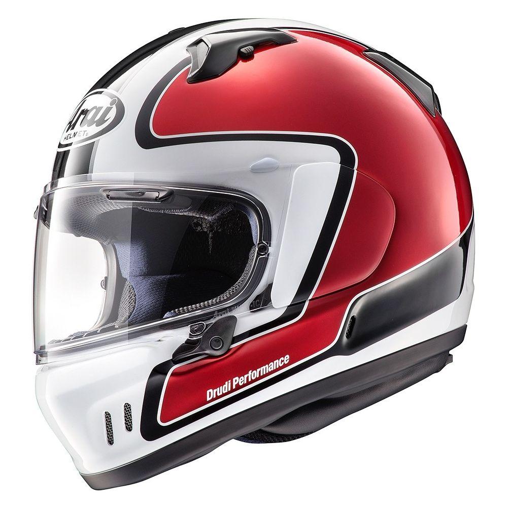 casco arai renegade-v outline nero bianco rosso