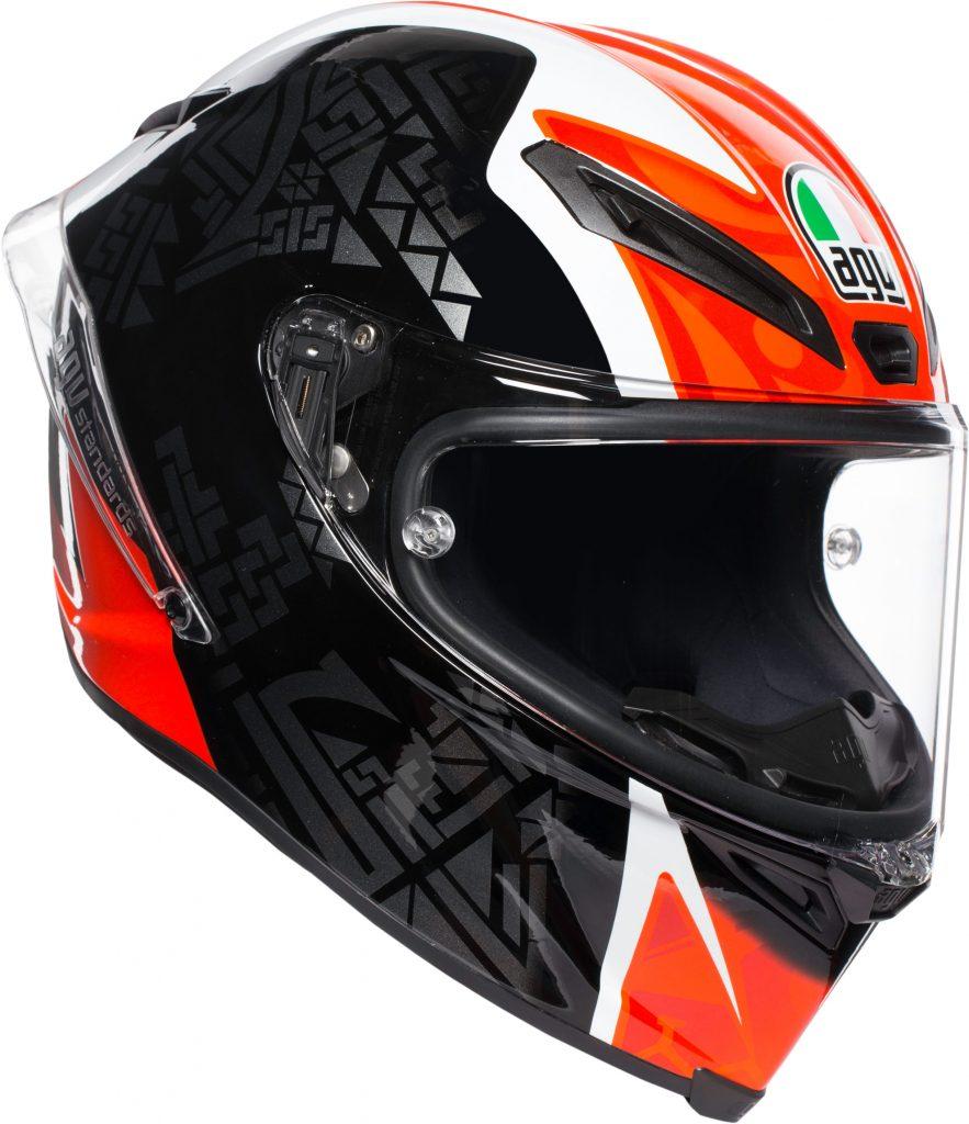 casco integrale agv corsa r plk multi casanova fibra rosso nero