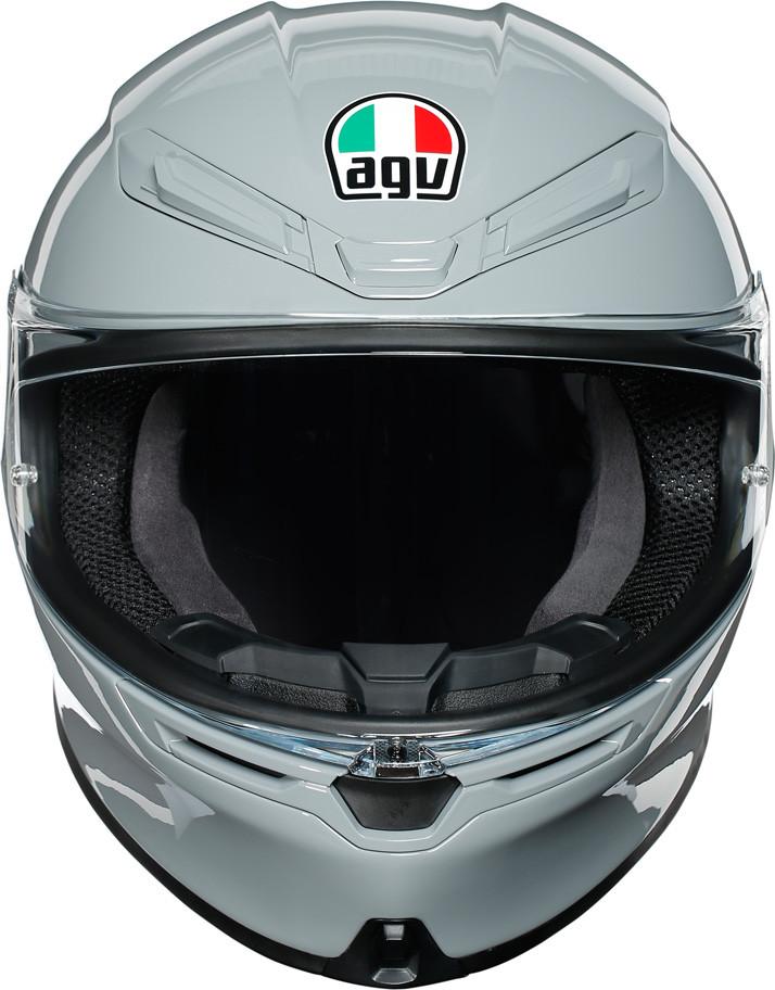 casco integrale agv k6 grigio frontale