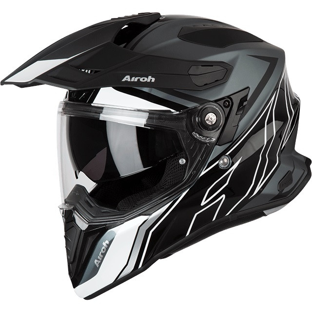 casco integrale airoh commander duo in fibra nero opaco