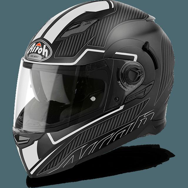 casco integrale airoh movement s con pinlock nero bianco opaco