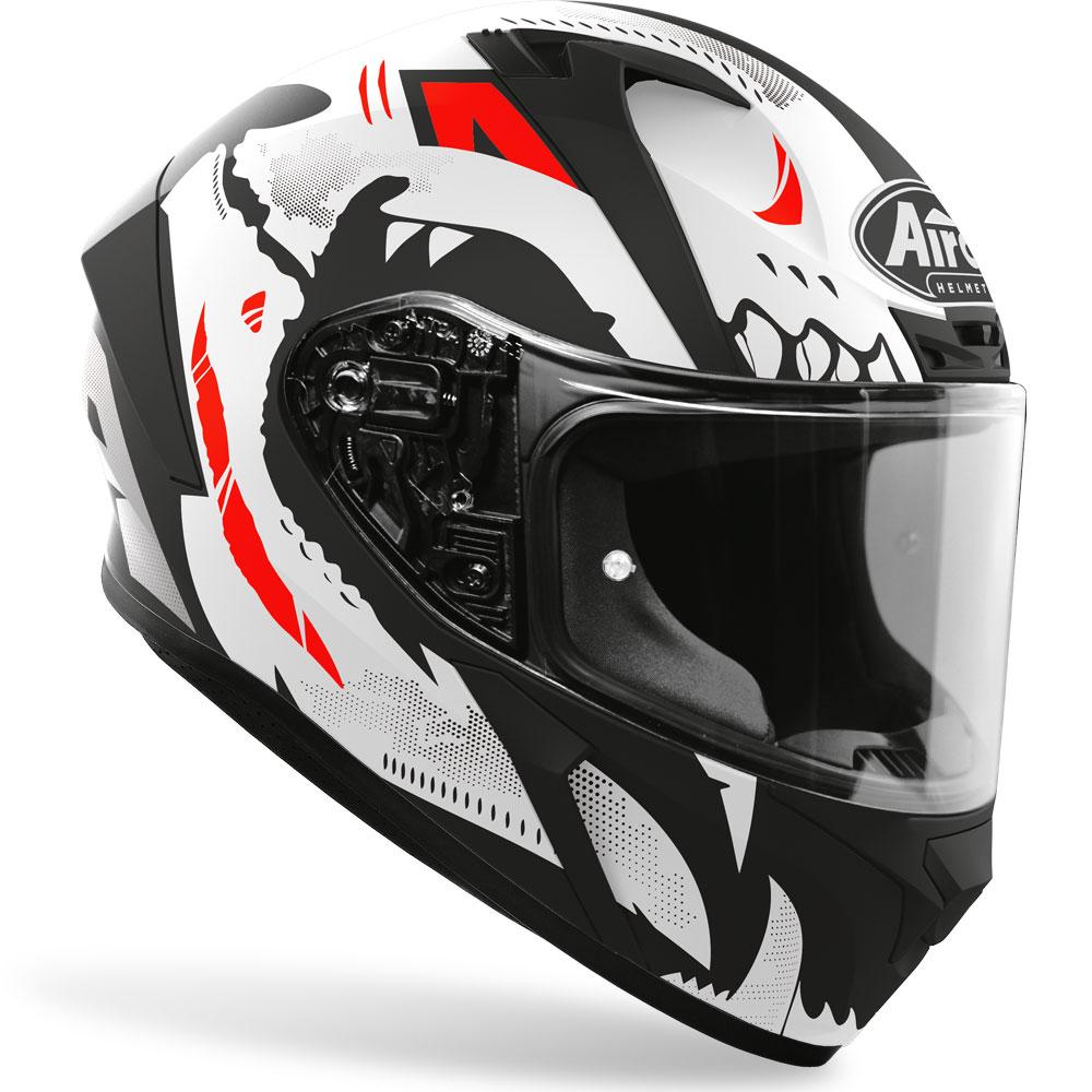 casco integrale airoh valor nexy nero rosso bianco