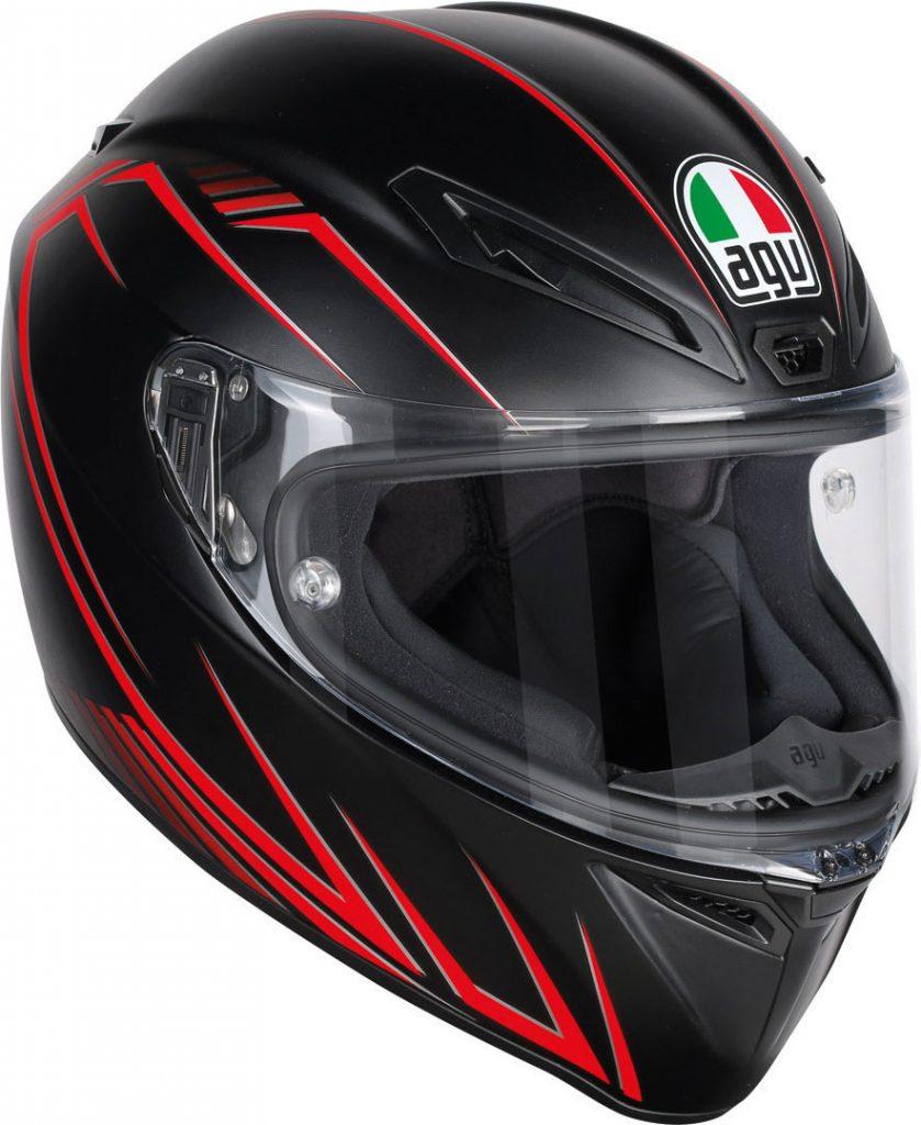casco integrale agv race veloce s multi predator nero rosso