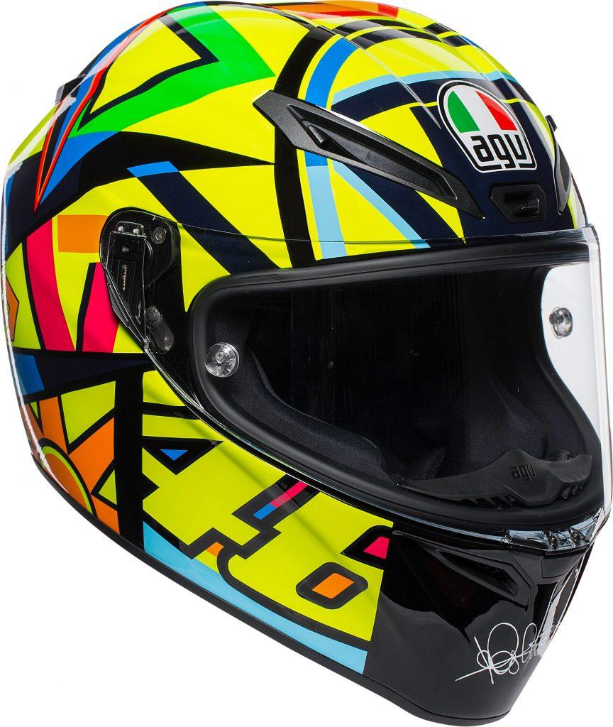 casco integrale agv veloce s plk top soleluna in fibra colorato giallo