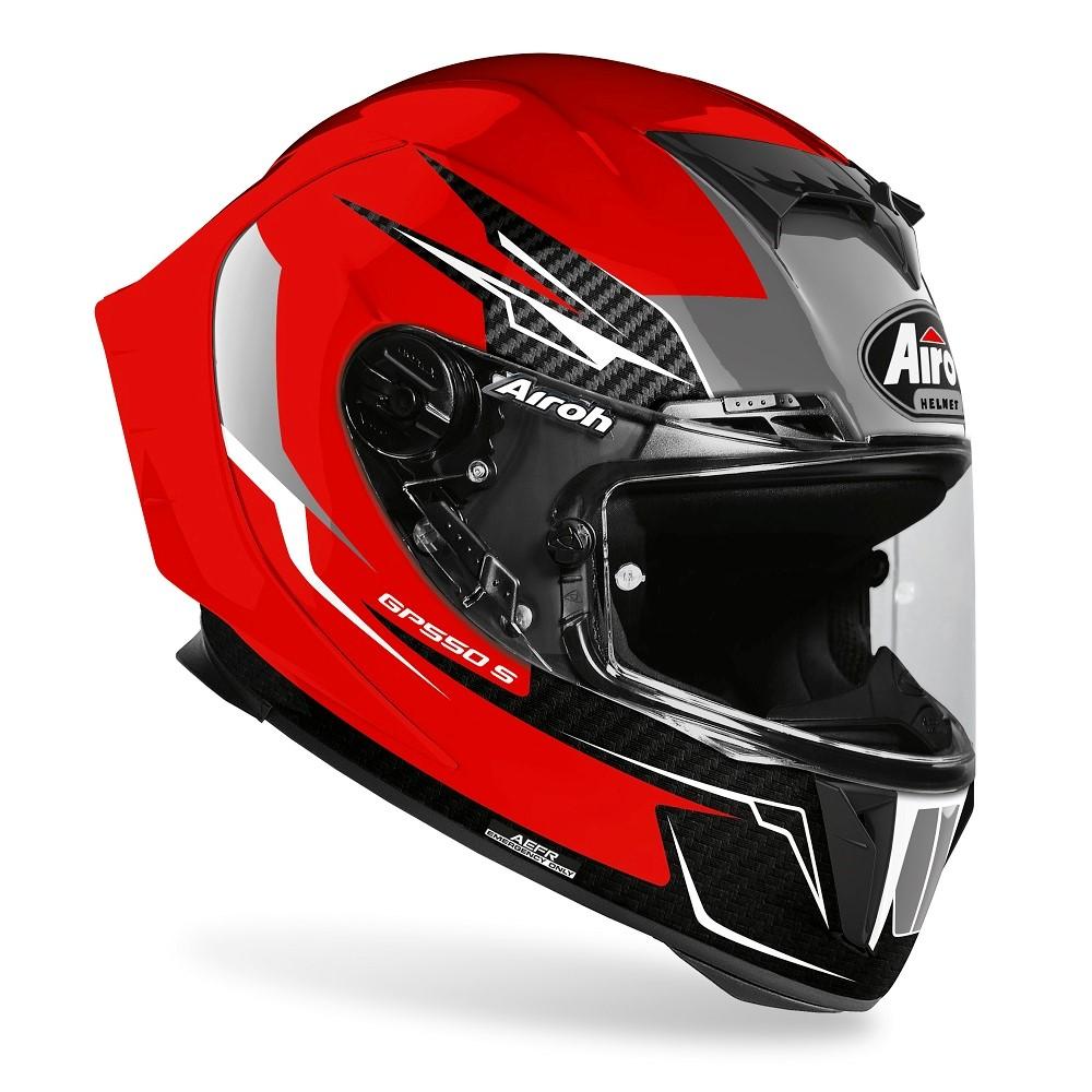 airoh gp550 nero rosso integrale per moto