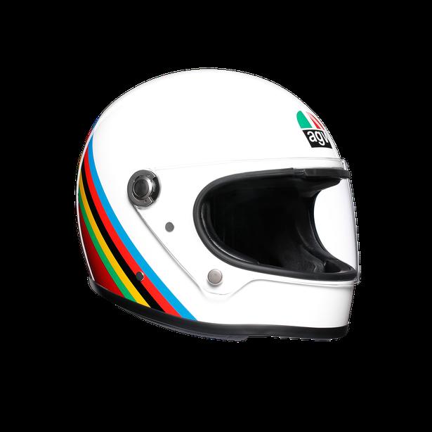 casco agv x3000 integrale multi e2205 bianco arcobaleno