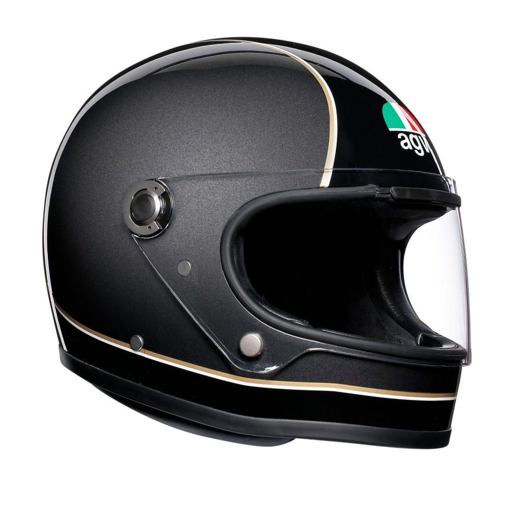 casco agv x3000 nero dorato opaco