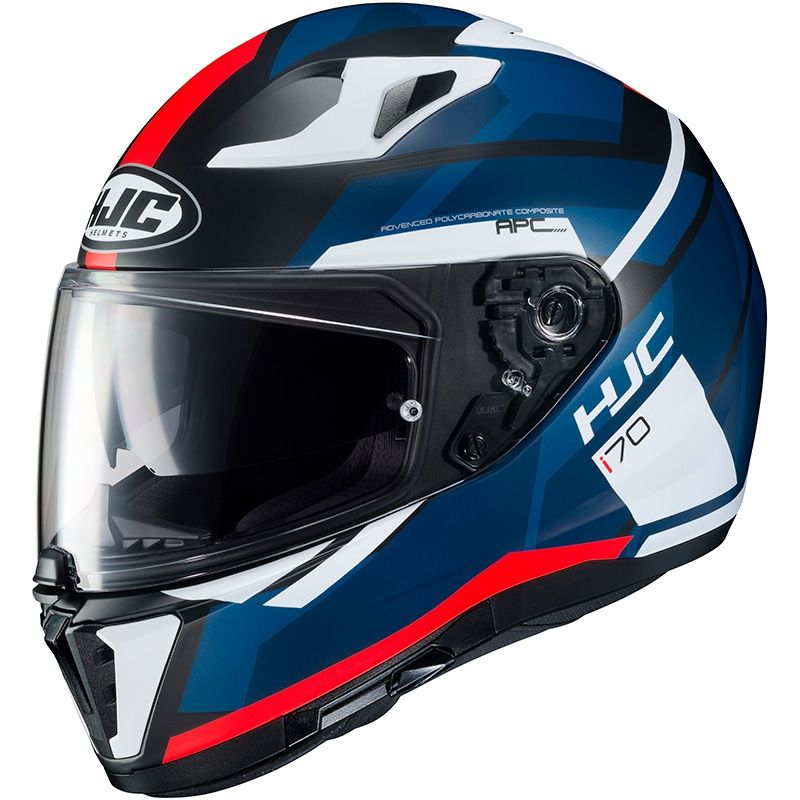 casco hjc i70 elim rosso bianco blu