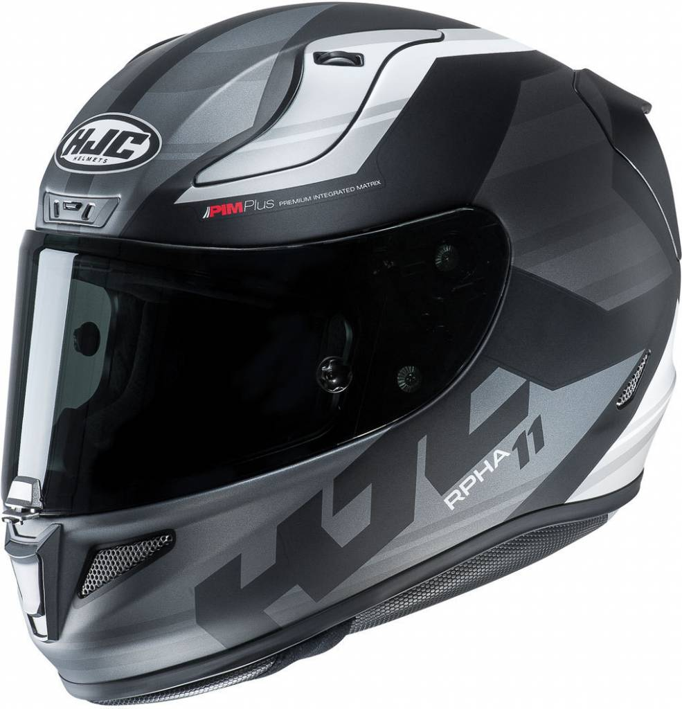 casco hjc rpha 11 nero grigio bianco