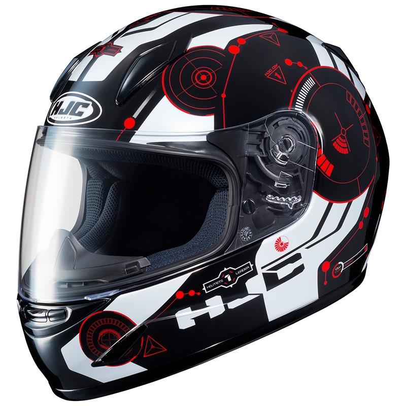 casco integrale hjc cly rosso nero