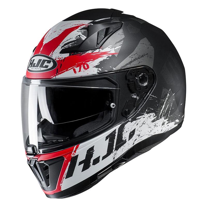 casco integrale hjc i70 rias nero bianco rosso