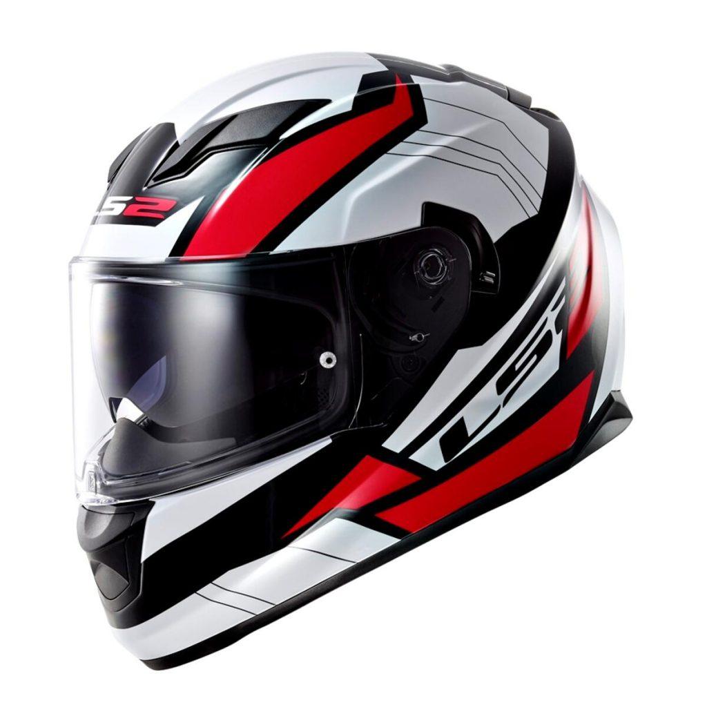casco integrale ls2 stream ff320 nero bianco rosso