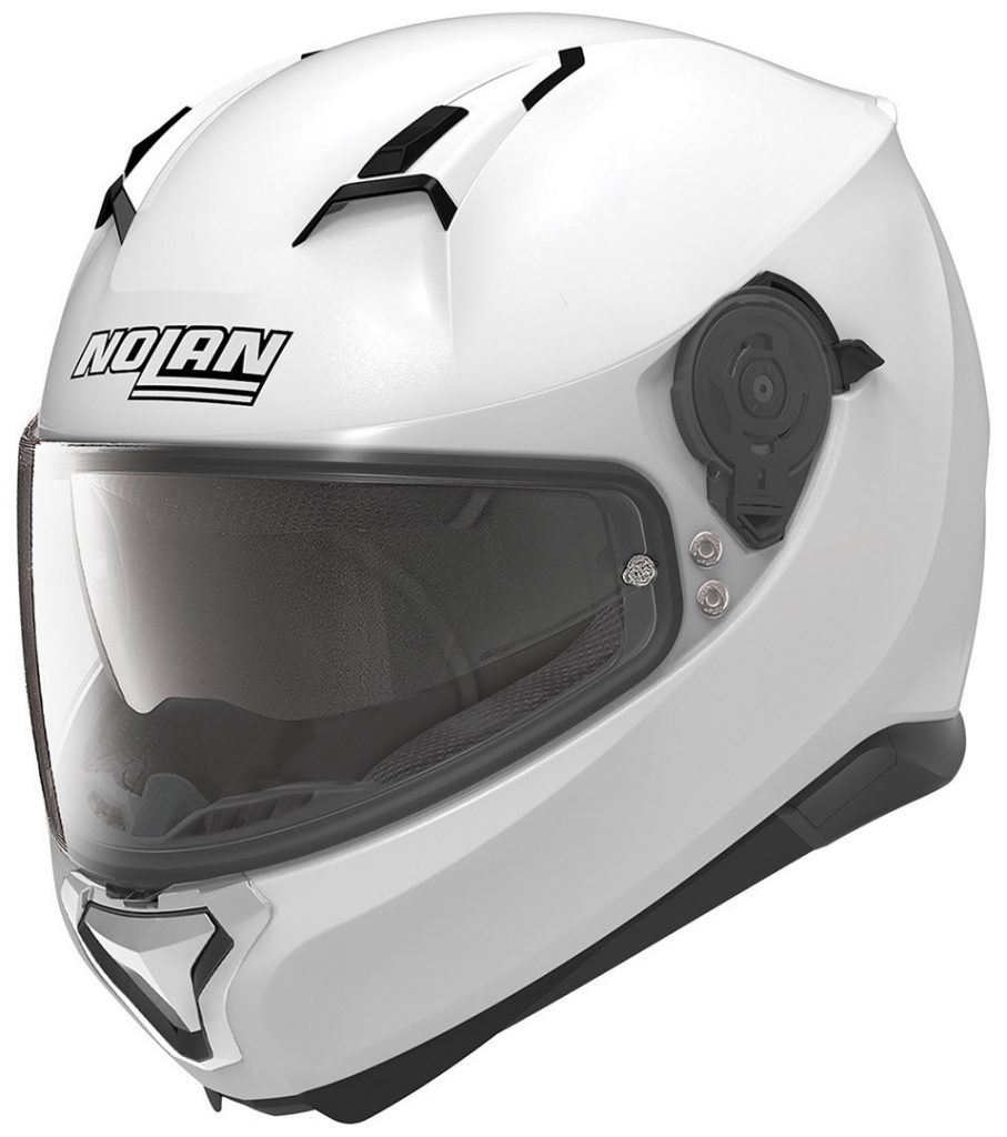 casco integrale nolan n87 classic bianco metal