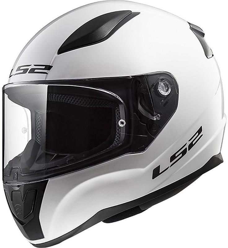 casco integrale per moto ls2 ff353 rapid solid bianco nero